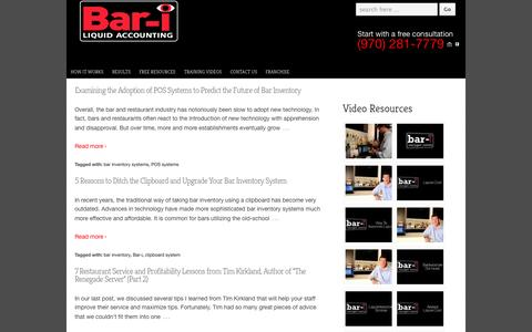 Screenshot of Blog bar-i.com - Control Liquor Inventory by Reading our Bar Inventory Blog | Bar - i - captured Oct. 5, 2014