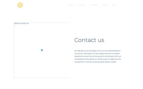 Screenshot of Contact Page daystartech.com - Contact - Day Star tech - captured Oct. 7, 2018