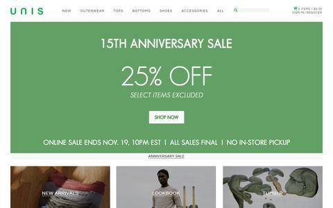 Screenshot of Home Page unisnewyork.com - UNIS - captured Nov. 18, 2015