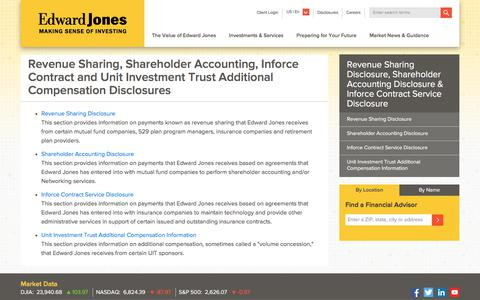 Revenue Sharing, Shareholder Accounting, Inforce Contract and Unit Investment Trust Additional Compensation Disclosures | Edward Jones