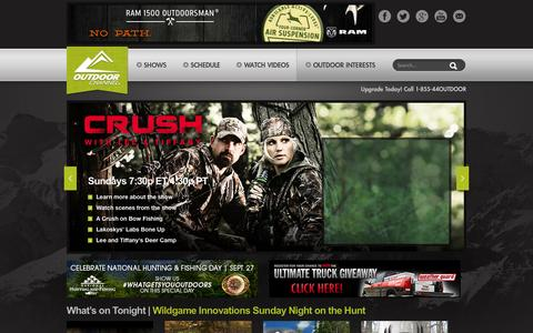 Screenshot of Home Page outdoorchannel.com - Outdoor Channel - captured Sept. 23, 2014
