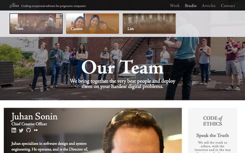 Screenshot of Team Page goinvo.com - Designers and Engineers at Involution Studios - captured Nov. 3, 2014