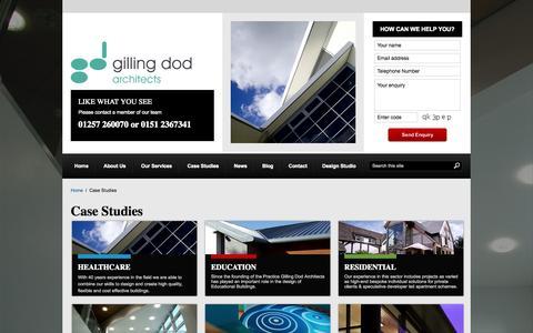 Screenshot of Case Studies Page gillingdod.com - Case Studies | Gilling Dod - captured Oct. 2, 2014