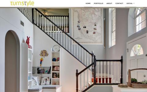 Screenshot of Home Page turnstyleid.com - Austin Interior Design by Turnstyle Design - captured Feb. 2, 2016
