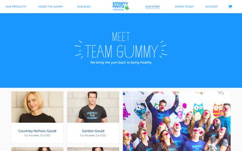 Screenshot of Team Page smartypantsvitamins.com - Our Team | SmartyPants - captured Feb. 20, 2016