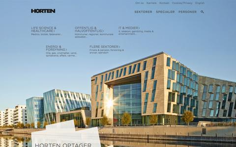 Screenshot of Home Page horten.dk - Horten Advokatpartnerselskab - Forside - captured Sept. 30, 2014