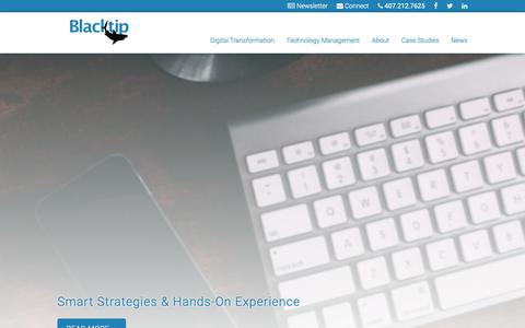 Screenshot of Case Studies Page blacktipit.com - Case studies in business transformation | Blacktip IT Services - captured Oct. 6, 2018