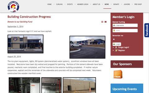Screenshot of Press Page denvercurlingclub.com - Denver Curling Club - News - captured Sept. 30, 2014