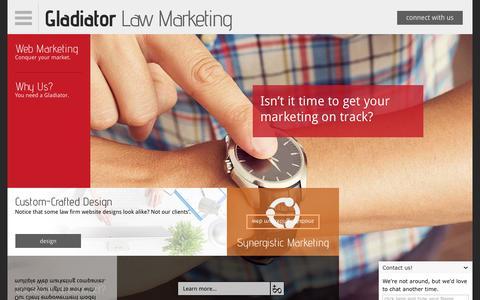Screenshot of Home Page gladiatorlawmarketing.com - Law Firm Web Marketing | Attorneys Search Optimization & Social Media - captured Dec. 9, 2015