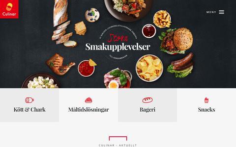 Screenshot of Home Page culinar.se - Störst inom smak, kryddor och livsmedels utveckling | Lyckeby Culinar AB - captured Sept. 30, 2018