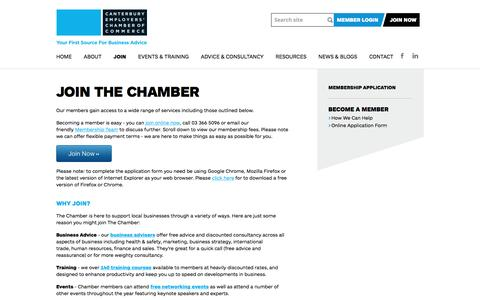 Screenshot of Signup Page cecc.org.nz - Join CECC | Business Events & Training » Canterbury Employers' Chamber of Commerce - captured Oct. 20, 2016