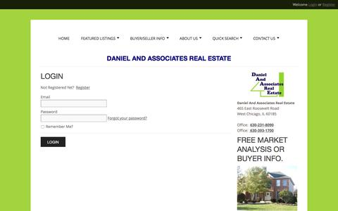 Screenshot of Login Page daare.com - User Login |  Real Estate in West Chicago, Warrenville, all of DuPage County and surrounding areas. Buying Homes, Selling Homes, Commercial - captured Nov. 23, 2016