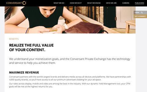 Publishers | Benefits | Conversant