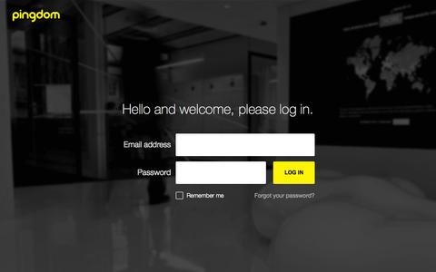 Screenshot of Login Page pingdom.com - My Pingdom Login - captured Sept. 19, 2014