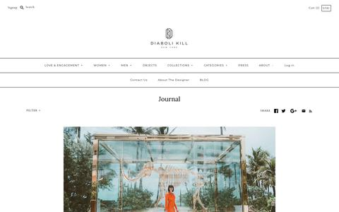 Screenshot of Blog diabolikill.com - Diaboli Kill  Journal blog: 14k, 14kgold, 18k, 1hotelbrooklynbridge, 2015 and more - captured Nov. 14, 2018