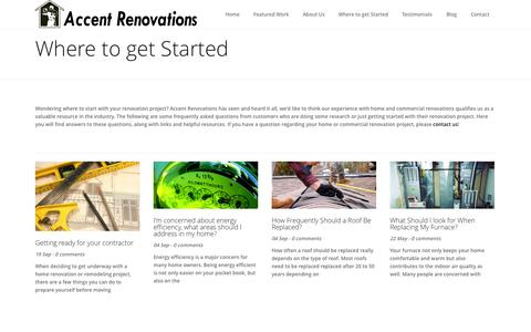 Screenshot of FAQ Page accentrenovations.ca - Where to get Started | Accent Renovations - captured Oct. 29, 2014