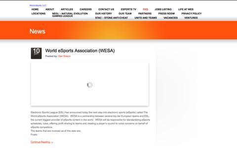 FAQ «  World eSports, LLC