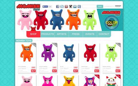 Screenshot of Home Page momishtoys.com - Momish Toys - captured Sept. 30, 2014