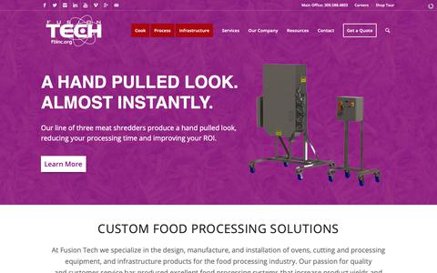 Screenshot of Home Page ftiinc.org - Fusion Tech Integrated - Custom Metal Design & Fabrication - captured Nov. 14, 2018