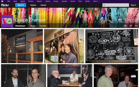Screenshot of Flickr Page flickr.com - Flickr: Guelph Chamber's Photostream - captured Oct. 23, 2014