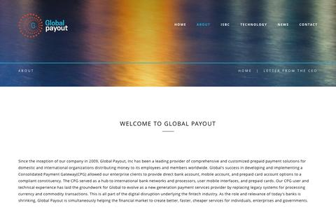 Screenshot of About Page globalpayout.com - Global Payout - captured Sept. 26, 2016