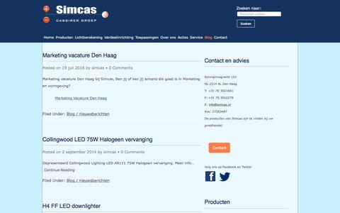 Screenshot of Blog simcas.nl - Blog - Simcas Electro - captured Nov. 19, 2016