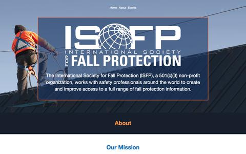 Screenshot of About Page isfp.org - The International Society for Fall Protection (ISFP) - captured Oct. 12, 2018