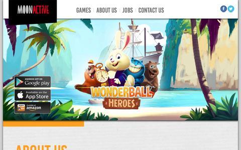 Screenshot of Home Page moonactive.com - Moon Active - captured Feb. 28, 2016