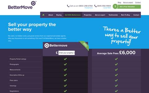Screenshot of Pricing Page bettermove.co.uk - Sell your property the better way | Bettermove - captured Sept. 30, 2014
