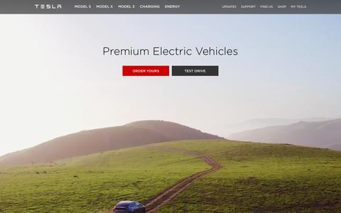 Screenshot of Home Page tesla.com - Tesla - captured Aug. 11, 2016