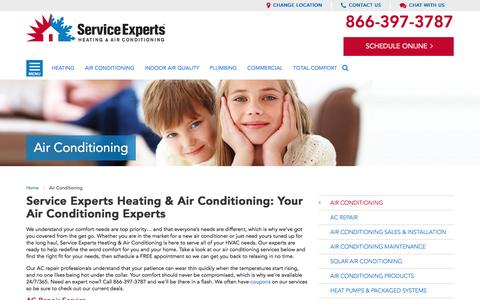 Air Conditioning Services in your city | Service Experts