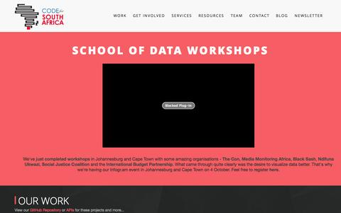 Screenshot of Services Page code4sa.org - Code4SA | Code4SA - captured Nov. 6, 2014