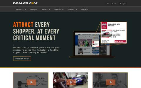 Screenshot of Home Page dealer.com - Dealer.com: Automotive Websites, SEO & Advertising - captured Dec. 2, 2015