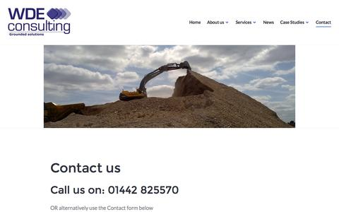 Screenshot of Contact Page wdeconsulting.co.uk - Contact us – WDE Consulting - captured Dec. 20, 2016