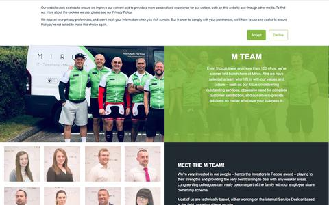 Screenshot of Team Page mirus-it.co.uk - The M Team at Mirus IT Solutions - captured Sept. 22, 2018