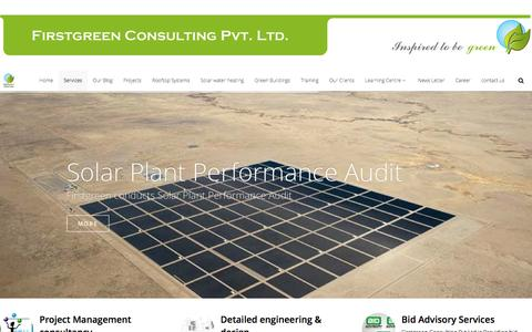 Screenshot of Services Page firstgreen.co - Services – First Green Consulting Pvt Ltd - captured Feb. 10, 2016