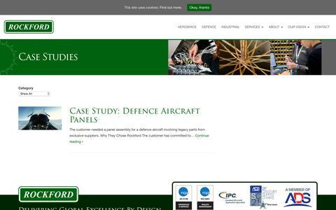 Screenshot of Case Studies Page rockford.co.uk - Case Studies - Rockford - captured Feb. 2, 2018