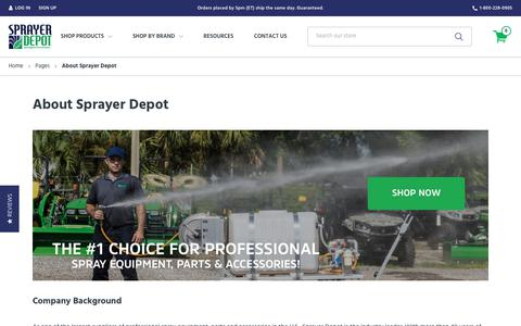 Screenshot of About Page sprayerdepot.com - About Us   Sprayer Depot, #1 for Professional Spray Equipment - captured Oct. 20, 2018