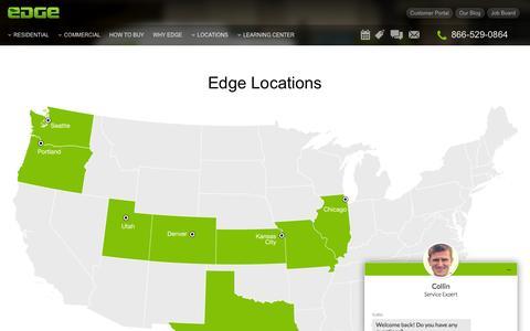 Screenshot of Locations Page edgepestcontrol.com - Pest Control Service  | Edge Pest Control - captured March 10, 2016