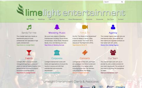 Screenshot of Home Page limelightgroup.ie - Home - Limelight Group - captured Oct. 3, 2014