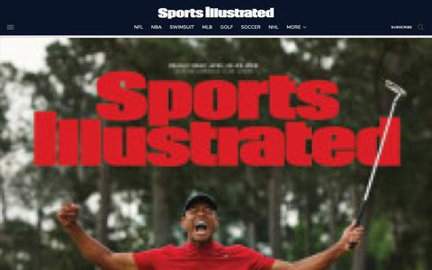 Screenshot of Site Map Page si.com - Sports Illustrated - captured May 12, 2019