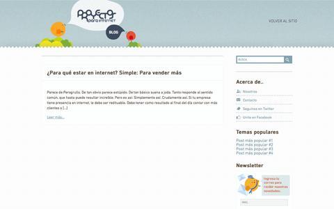Screenshot of Blog proyectosparainternet.com - Blog   Proyectos Para Internet - captured Sept. 30, 2014