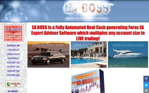 Screenshot of Home Page ea-boss.com - EA BOSS - Best Forex Expert Advisor   Forex Trading Software - captured Nov. 18, 2017