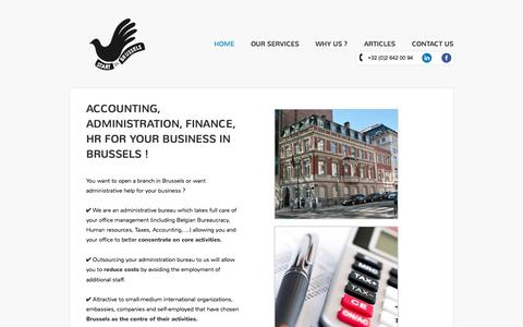 Screenshot of Home Page start-in-brussels.com - Start in Brussels - Helping you you with Belgian Administration - captured Oct. 9, 2014