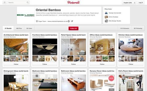 Screenshot of Pinterest Page pinterest.com - Oriental Bamboo on Pinterest - captured Oct. 26, 2014