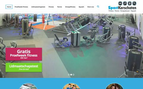 Screenshot of Home Page sportkerschoten.nl - Sportschool Kerschoten: dé plek voor fitness in Apeldoorn - captured Sept. 21, 2018