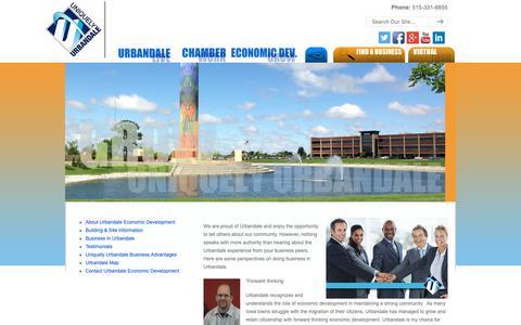 Screenshot of Testimonials Page uniquelyurbandale.com - Testimonials | Urbandale Chamber of Commerce, Urbandale, Iowa Urbandale Chamber of Commerce, Urbandale, Iowa - captured Nov. 16, 2018