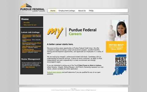 Screenshot of Jobs Page silkroad.com - Careers | Purdue Federal Credit Union - captured Sept. 12, 2014