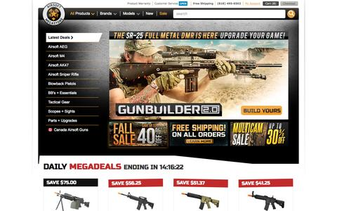 Screenshot of Home Page airsoftmegastore.com - The Most Trusted Website To Buy Airsoft Guns Online | Airsoft Megastore - captured Oct. 1, 2015