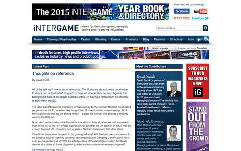 Screenshot of Blog intergameonline.com - Blog | InterGame - captured Sept. 24, 2014